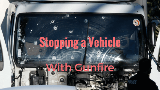 Stopping a Vehicle with a pistol