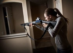 home defense cannot happen from inside the home
