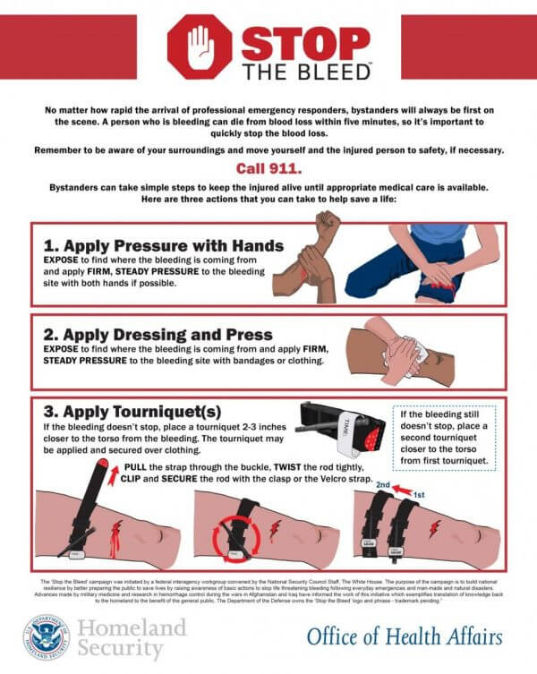 """How to Stop Bleeding - """"Put Your Hands on the Red"""""""