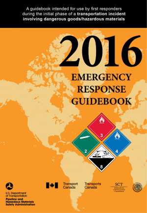 The Emergency Response Guide can help you identify chemicals when you're prepping.