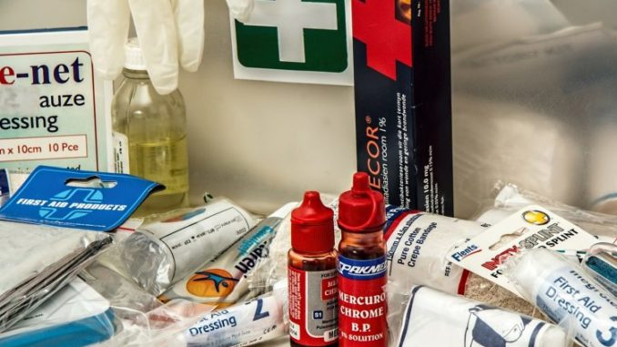 A proper first aid kit needs to be part of your shelter in place kit.
