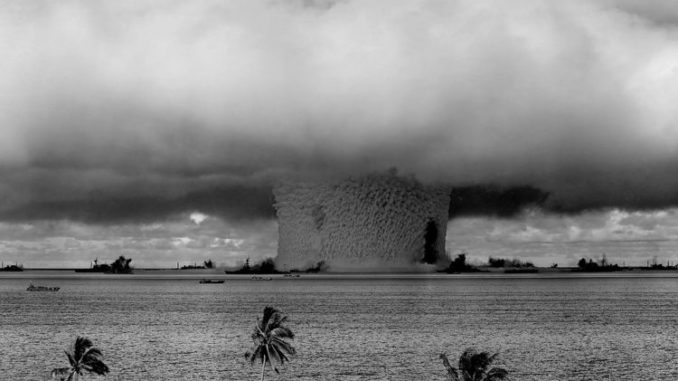 Nuclear weapons that detonate underwater will cause a radioactive rain cloud.