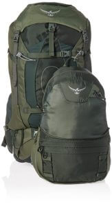 The Osprey Aether AG 60 forms a great base for a bug out bag.