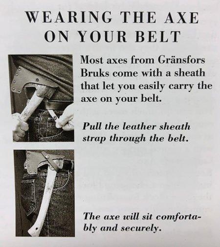 Gransfors Bruks Hatchet How to Hang your Axe