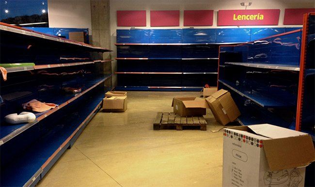 Store Shelves Are Empty