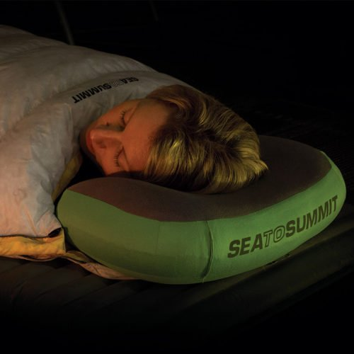 Sea To Summit Aeros Pillow Laying Down in a Tent