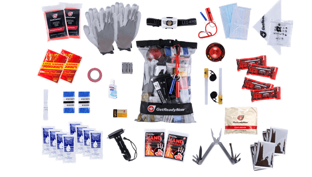 GetReadyNow 2+ Person Deluxe Car Emergency Kit