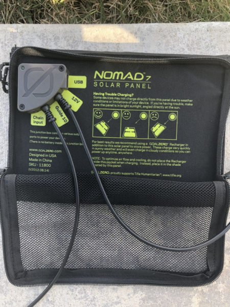 Guide 10 Plus Solar Recharging Kit with Nomad 7 Solar Panel Rear