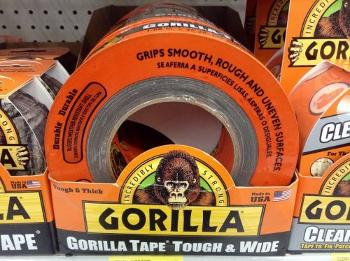 Gorilla Tape is useful in primitive camping