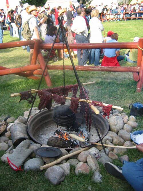 Traditional Pemmican making