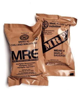 Stripped down MRE for get home bag.