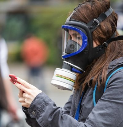 What do gas masks protect you from