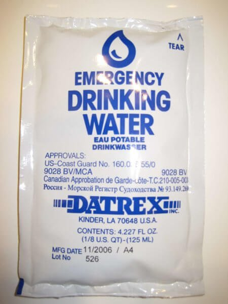 Emergency Water Pouches - Always Have Water Pouches Close By