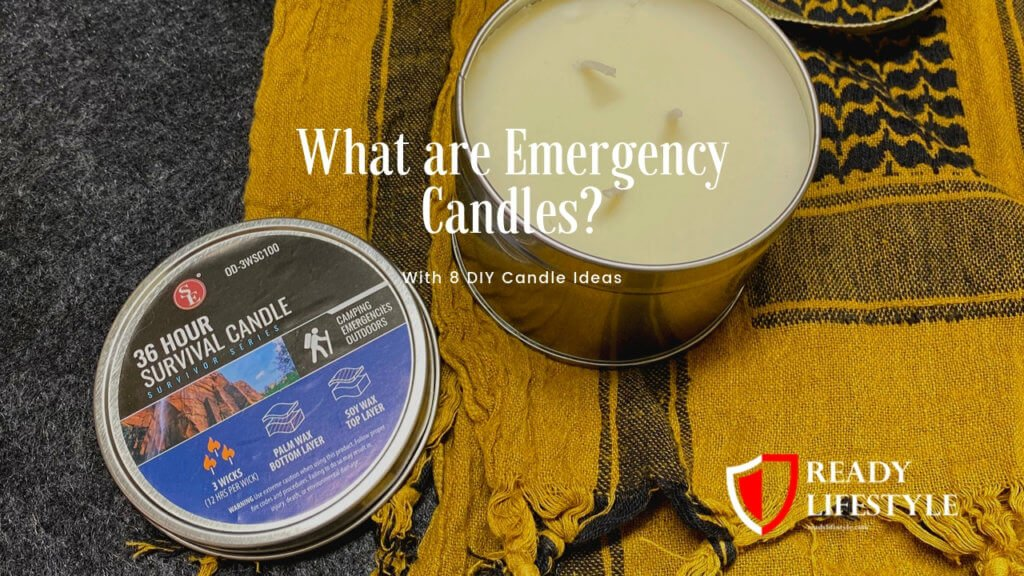 36 Hour 3 Wick Candle Emergency Disaster Survival Camping Palm Soy Wax Tin