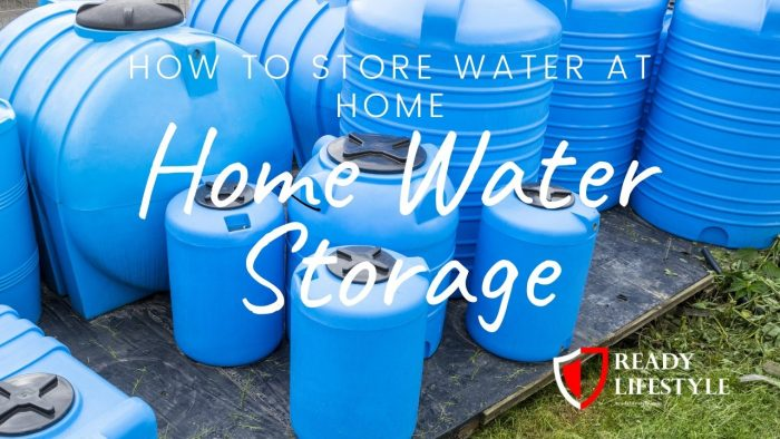 Home Water Storage