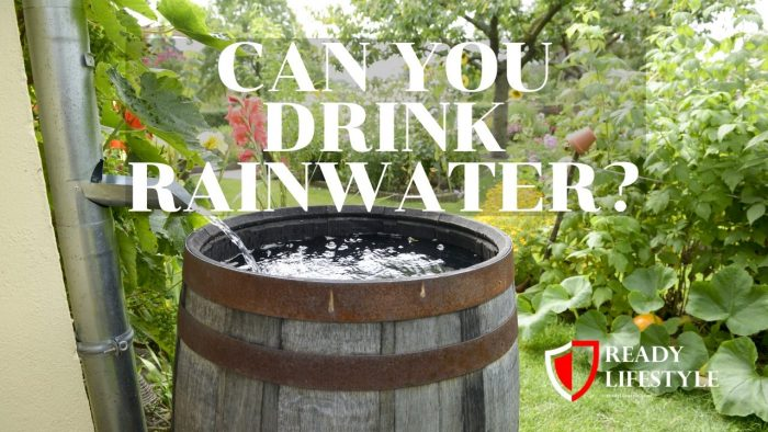 Can You Drink Rainwater